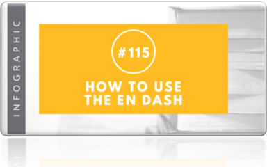 115 how to use the en dash