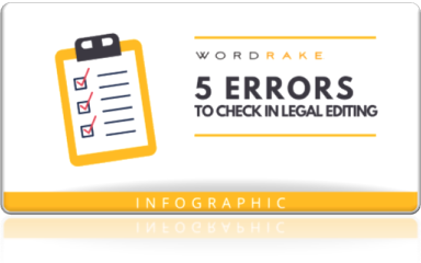 5 Errors to check in legal editing