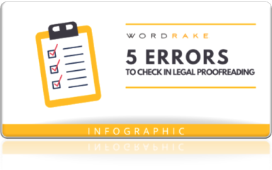 5 Errors to check in legal proofreading