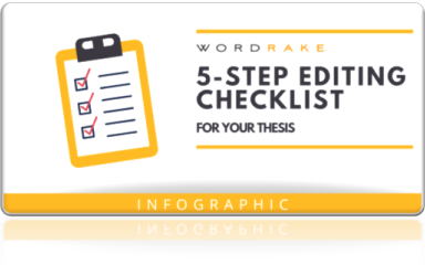 5 Step Editing checklist