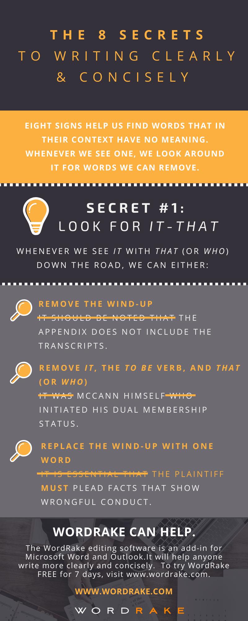 Concise Secret 1 - It-That (Long)