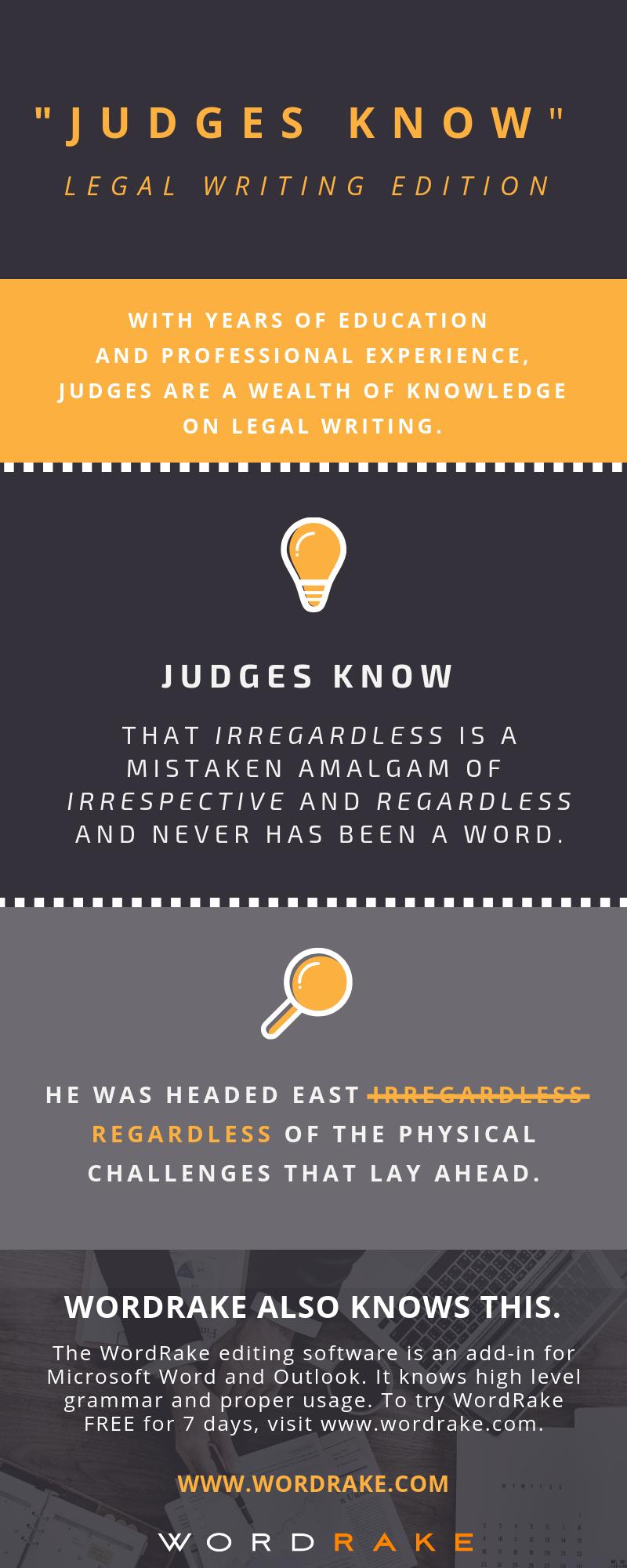Judges Know 3 - Irregardless (Long)