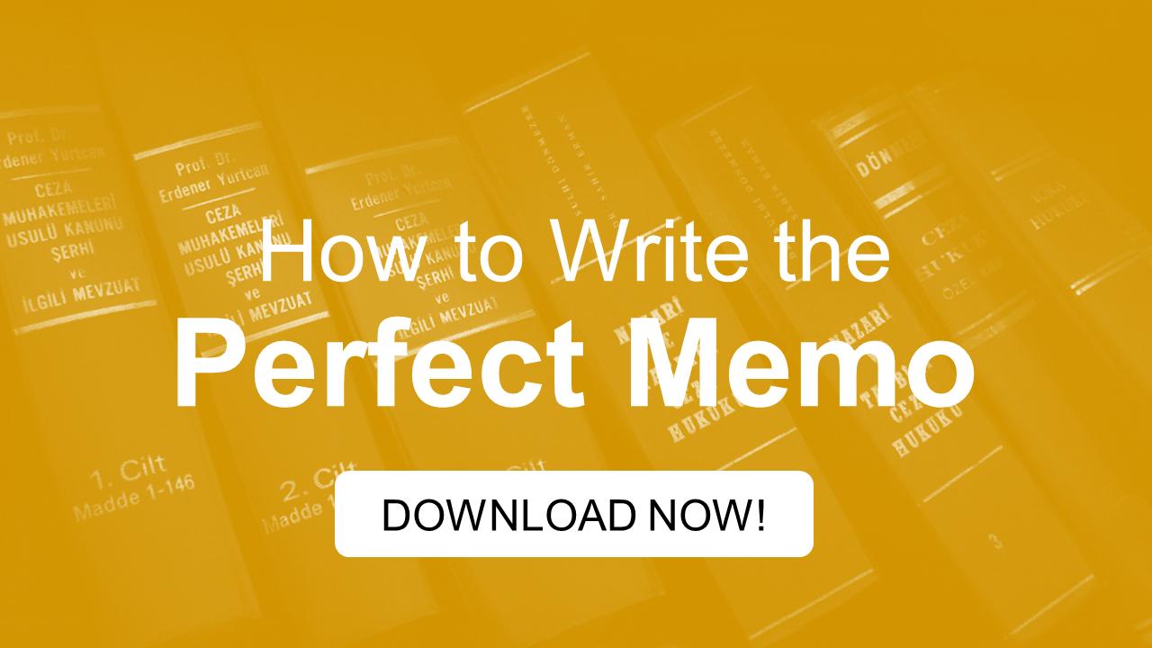 Perfect Memo ebook lead magnet