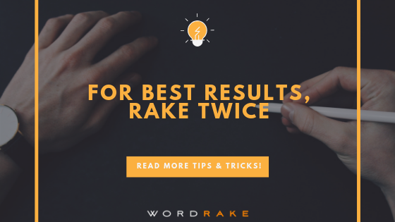 Title Graphic_For Best Results, Rake Twice